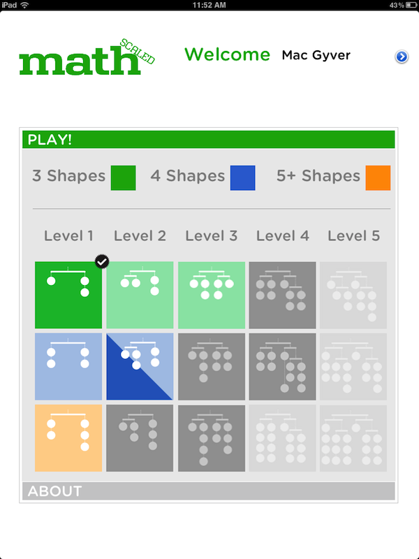 screenshot of the level select screen